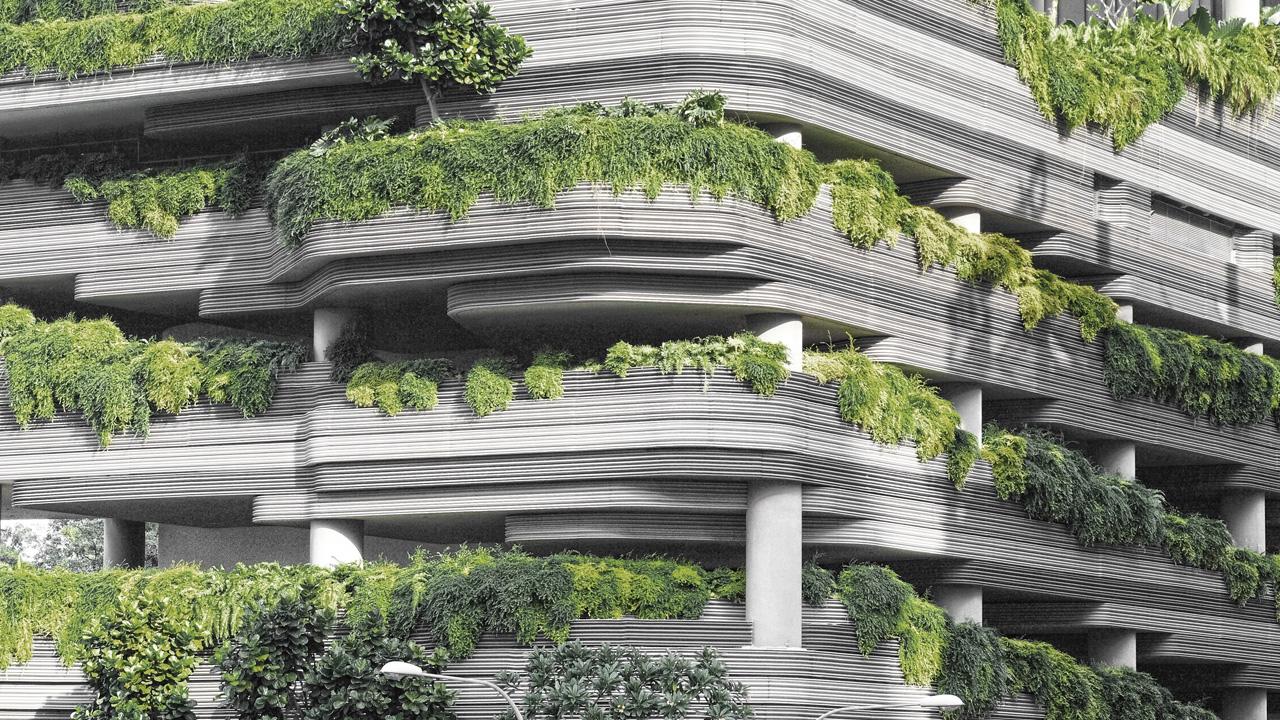 Balconi verdi per ridurre inquinamento